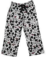 Disney Mickey Mouse FACES Women Capri Pajama Pant