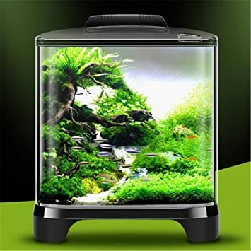 Fantastisch YANFEI 7L Desktop Mini Eco Anlage Interne Power Lighting Aquarium  Transparenten Desktop Kreative Geschenk Mit Deckel