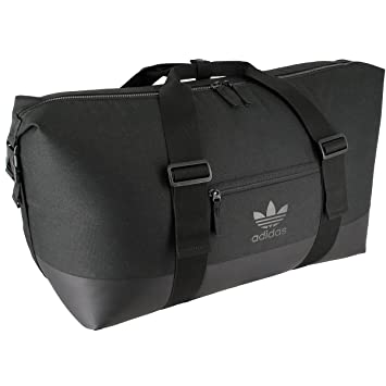 adidas duffle bag. adidas unisex originals weekender duffel bag, black/black, one size duffle bag