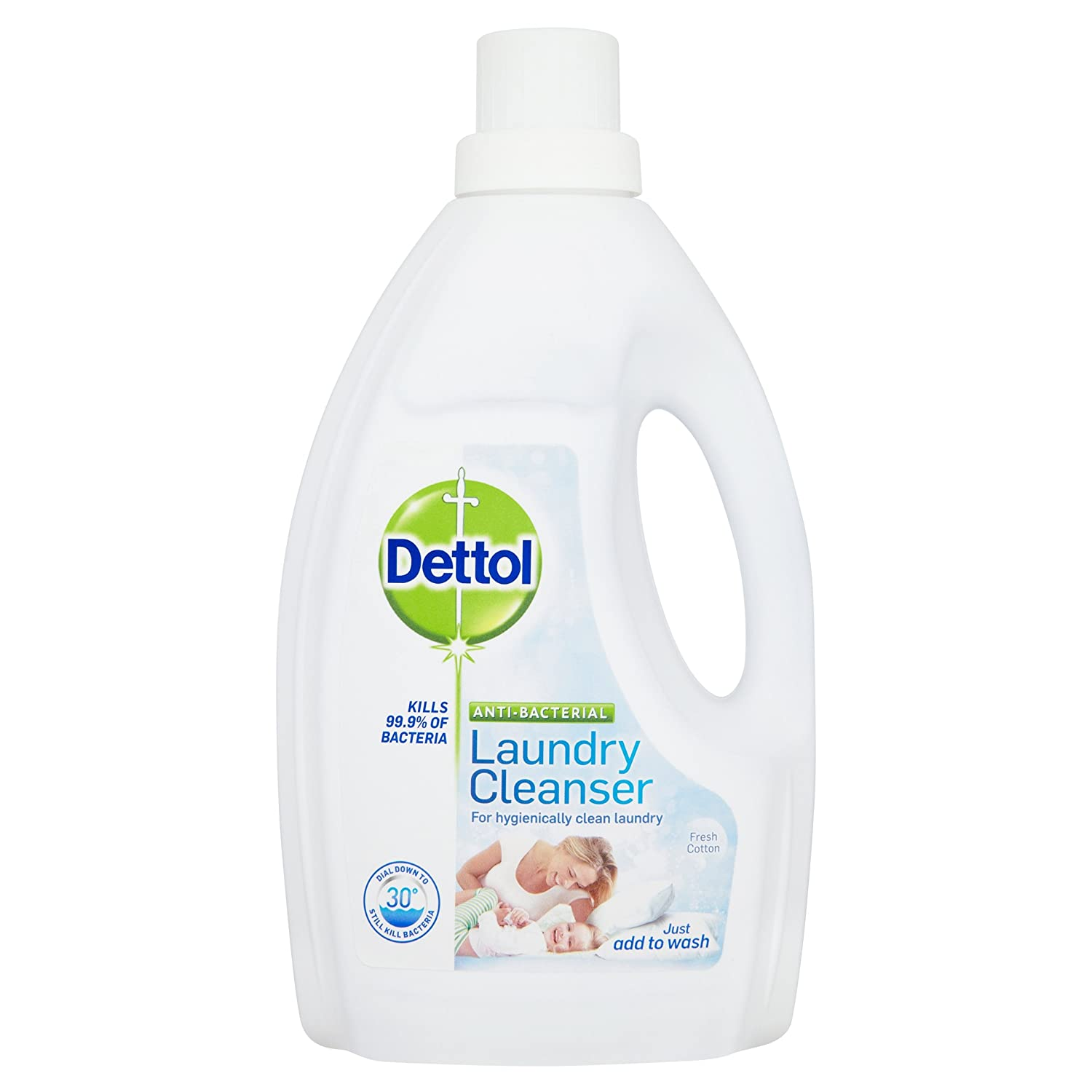 Dettol Antibacterial Laundry Cleanser Fresh Cotton 1 5 L Pack Of 4