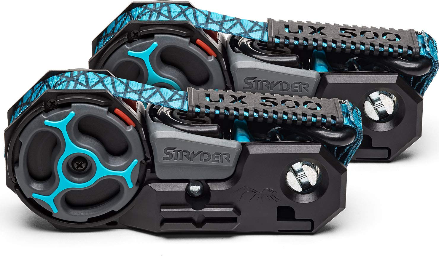 12 x 1 500 lb Working Load Limit 1500 lb Break Strength Stryder UX500-01A Retractable Ratchet Tie Down Straps