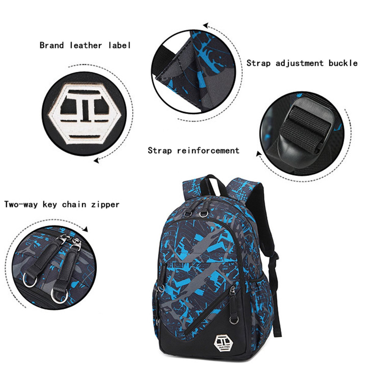 5a456e312a5d mioy Teenager School Bag Canvas Printing Backpack Durable Student ...