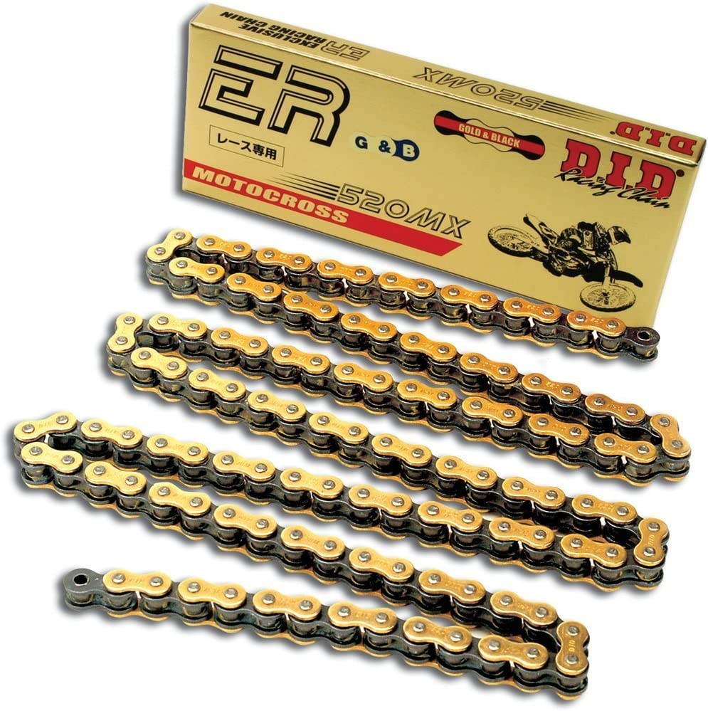 D.I.D 520MX-112 Gold 112-Link High Performance Heavy Duty Chain with Connecting Link