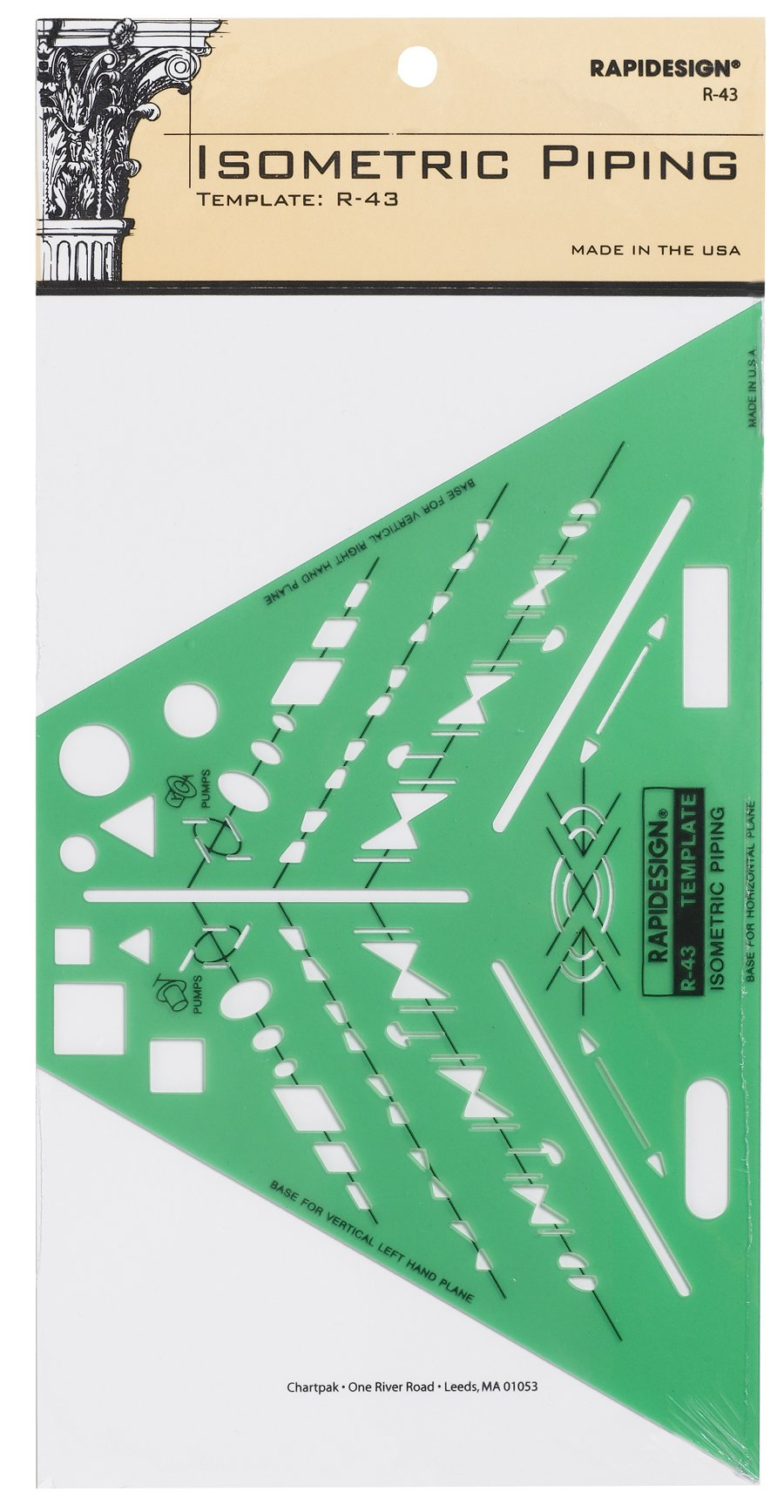 Rapidesign Isometric Piping Template, 1 Each (R43) by RAPIDESIGN