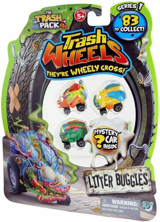 Blister LB de 4 mini coches Basurillas - Trash Wheels Litter Buggies: Amazon.es: Juguetes y juegos