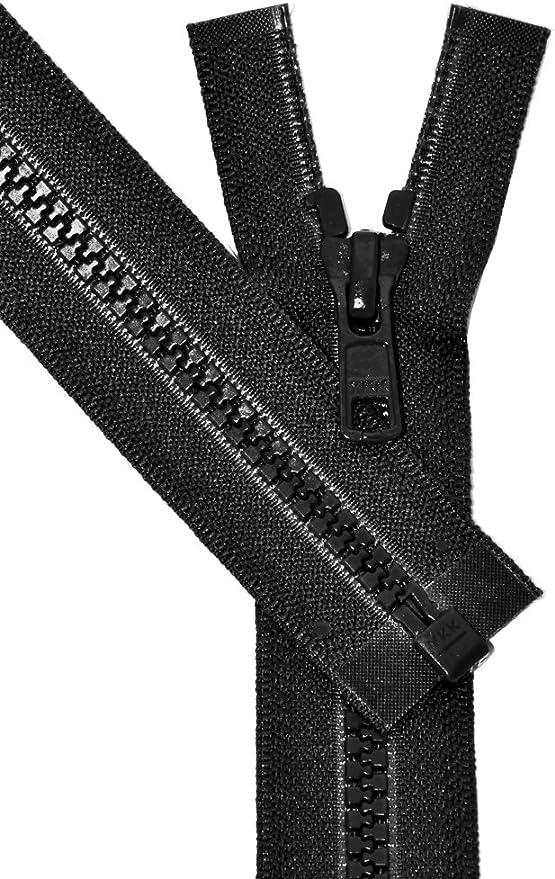 "22/"" #5 Aluminum Zippers ~ Separating ~ Black ~ YKK 50"