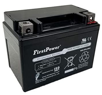 amazon com firstpower 1 ytx4l bs for gs battery ytx4l bs premium rh amazon com