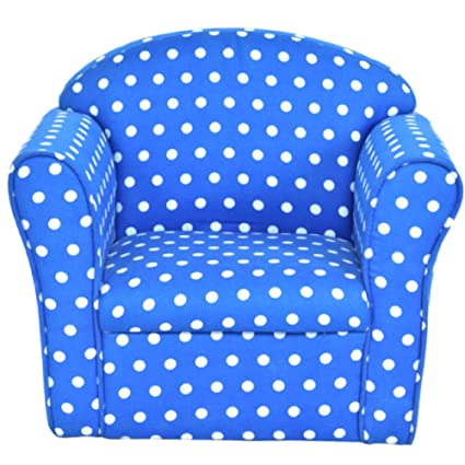 Amazon.com: Kids Armrest Sofa Chair Blue Dots Living Room ...