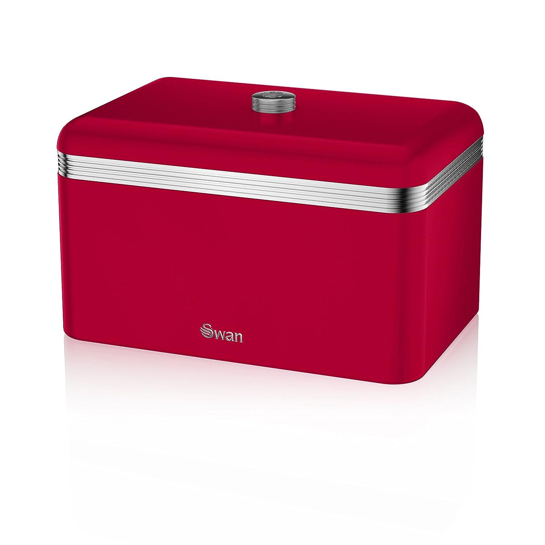 Red Retro Kitchen Accessories Swan Kitchen Accessories Retro Set Retro Red Bread Bin Breadbin