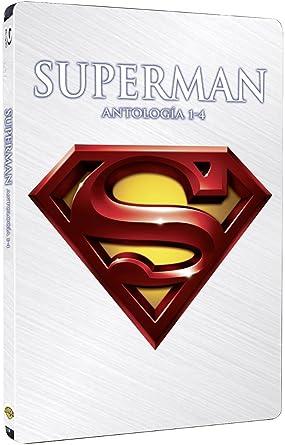 Pack Superman I+Ii+Iii+Iv - Edicion 4 Discos Steelbook Blu-Ray Blu ...