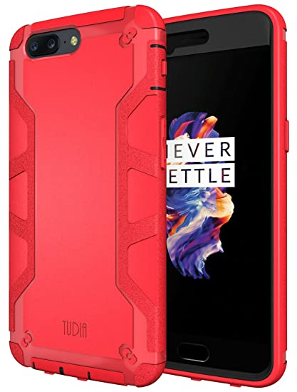 new style 2f74f 3261d TUDIA OnePlus 5 Case, OMNIX [Heavy Duty] Hybrid [Full-body] Case with Front  Cover and Built-in Screen Protector/Impact Resistant Bumpers for OnePlus 5  ...