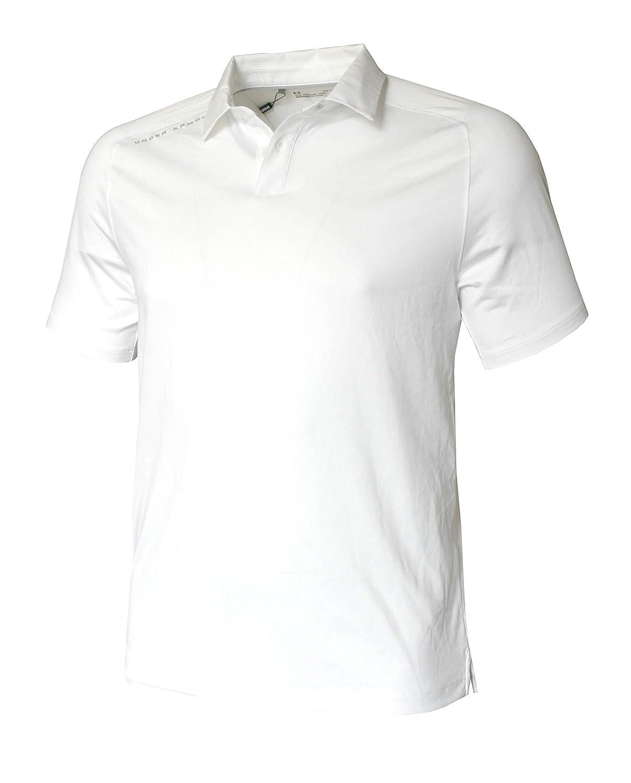 Under Armour Mens Performance Shirt HeatGear Polo 1306111 (White ...