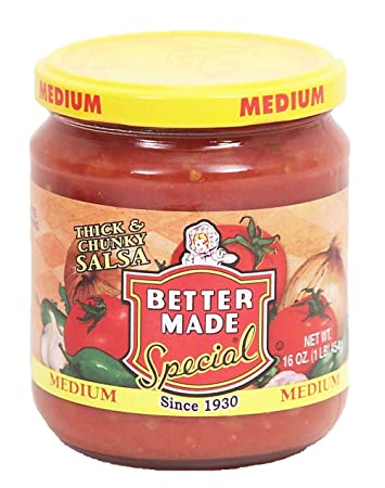 Better Made thick & chunky salsa, medium, 16-oz. glass jar
