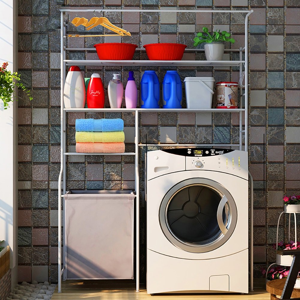 ERRU-étagères Machine à laver Rack Rack de toilette Rack de rangement divers Type de plancher avec sac à buggy Étag