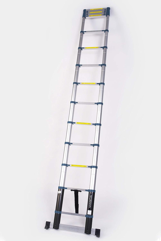 WORHAN® 4.4m Escalera Telescopica 440cm PRO Multiuso ...