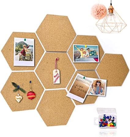 Mini Wall Bulletin Boards Small Cork Notice Board with 70 Pieces Push Pins for Home Office and School pengxiaomei 8 Pack Cork Bulletin Board with Full Sticky Back