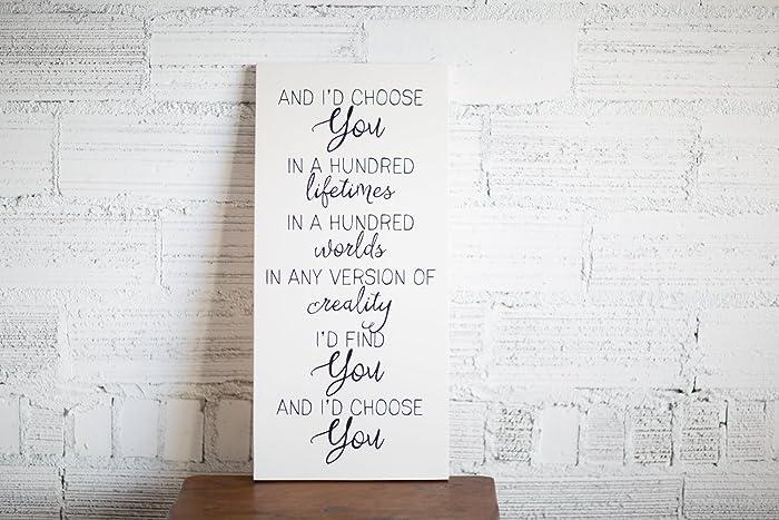 Amazon.com: Home Decor And I\'d Choose You Love Quote | Handmade ...