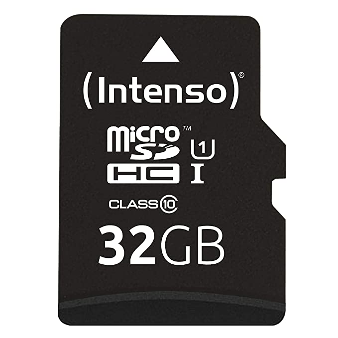 Intenso Professional microSDHC UHS-I Class 10 32GB Speicherkarte inkl. SD-Adapter (bis 90Mbps) schwarz