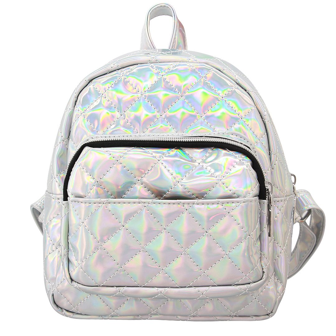e04200d3f8bc Amazon.com: Liliam Women Holograhic Backpack Daypack Satchel ...
