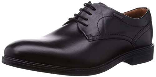 Clarks, Scarpe stringate uomo Marrone Dark Brown, Nero (Black Leather), 46