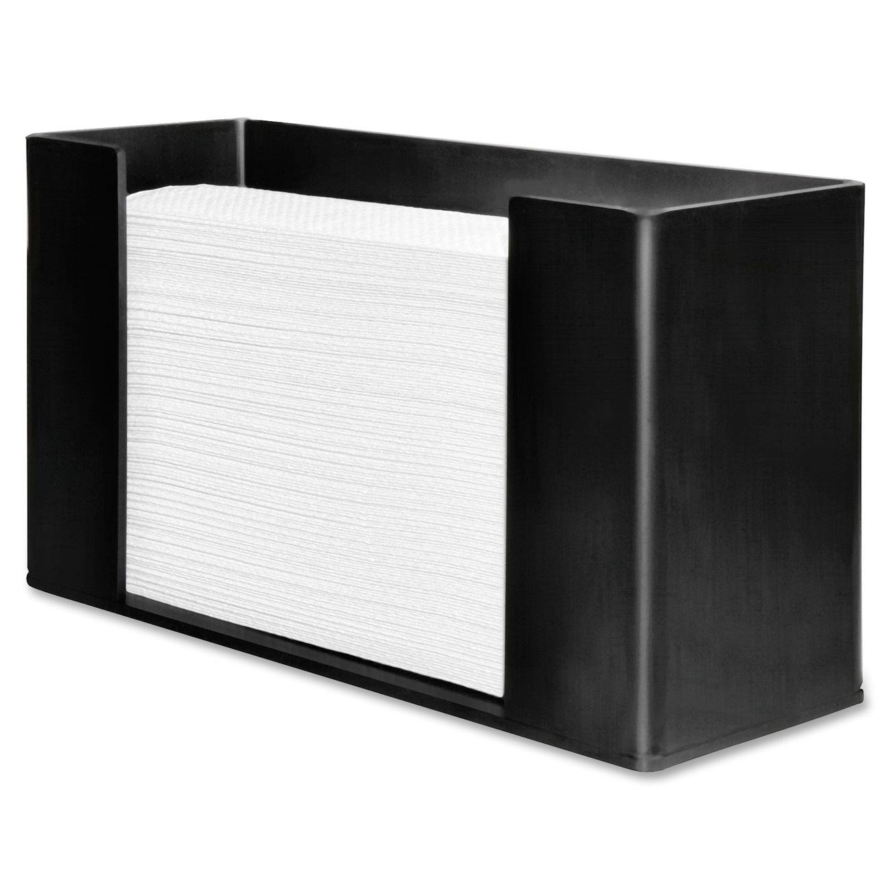 Genuine Joe GJO11524 Acrylic C Fold/Multifold Paper Towel Dispenser, 11-1/2'' Length x 4-3/32'' Width x 6-51/64'' Height, Black