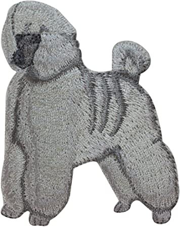 ID 2727 Poodle Dog Patch Puppy Breed Fancy Show Embroidered Iron On Applique