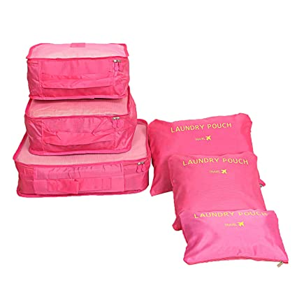 4c7e7e3be302 Amazon.com: Kuber Industries 6 Pieces Travelling Mesh Laundry Pouch ...