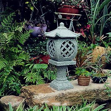 Decoración De Jardín Piso Al Aire Libre Linternas De Piedra Lámpara De Jardín Japonesa Antigua Lámpara