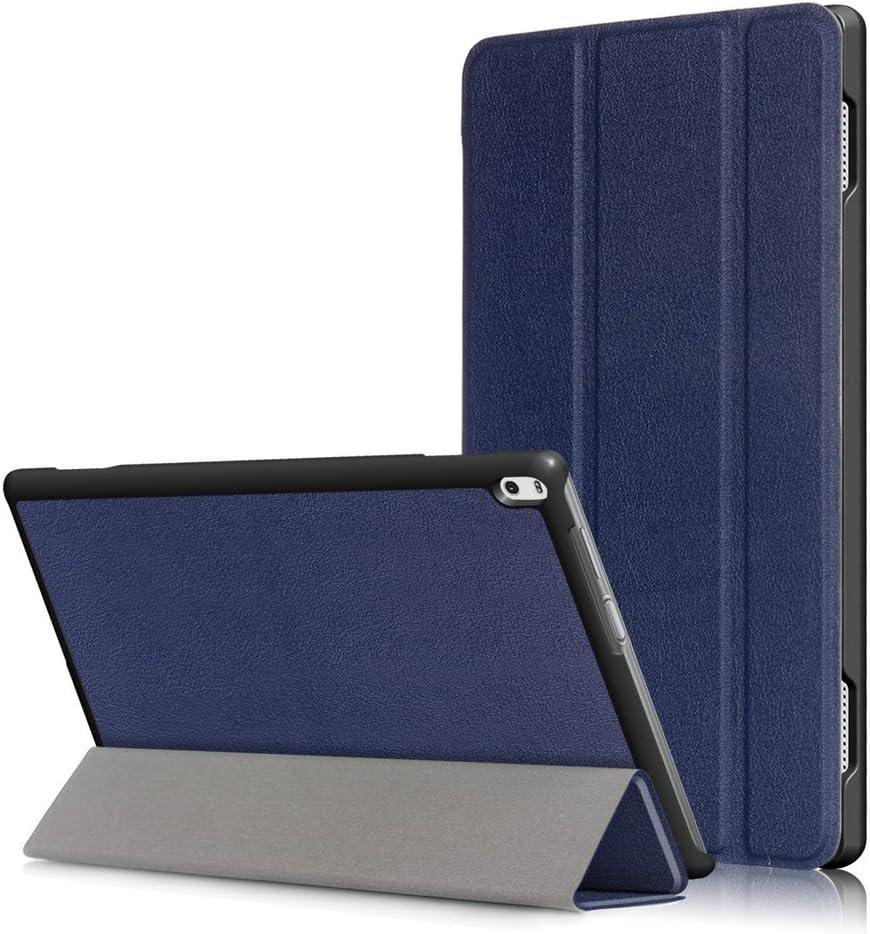 Kepuch Custer Case for Lenovo Tab 4 10 Plus TB-X704F TB-X704N,Ultra-Thin PU-Leather Hard Shell Cover for Lenovo Tab 4 10 Plus TB-X704F TB-X704N - Blue
