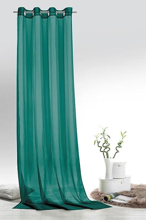 Fashionjoy ösenschal Voile Petrol Hxb 245x140 Cm Transparent Einfarbig Dekoschal Türkis Gardine Typ418