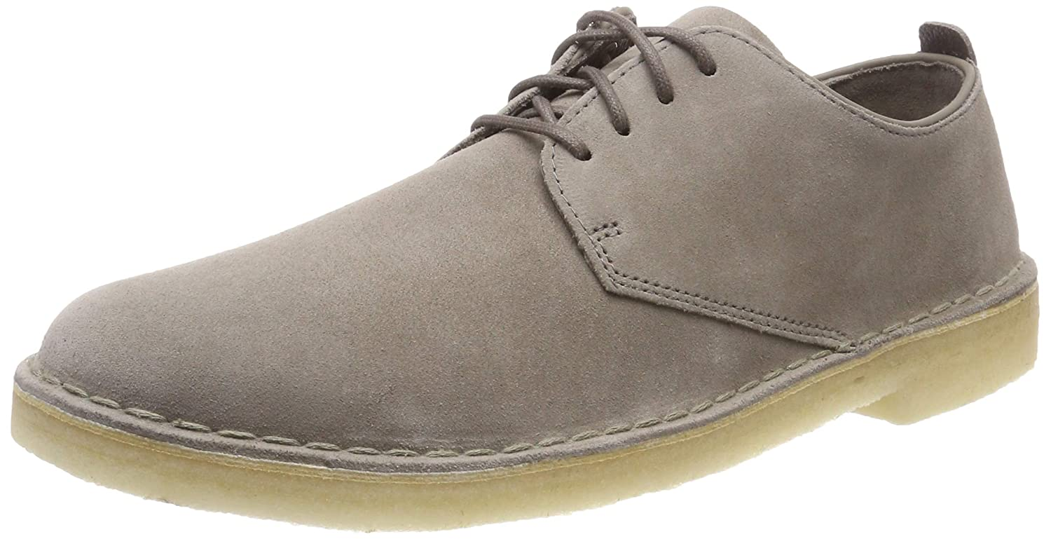Clarks Originals Desert London, Zapatos de Cordones Derby para Hombre, Gris (Grey Suede), 44.5 EU