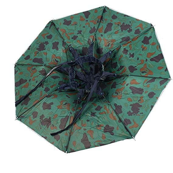 Amazon.com: DealMux poliéster Camouflage Pattern Outdoor Pesca Headwear Cap Hat Umbrella: Home & Kitchen