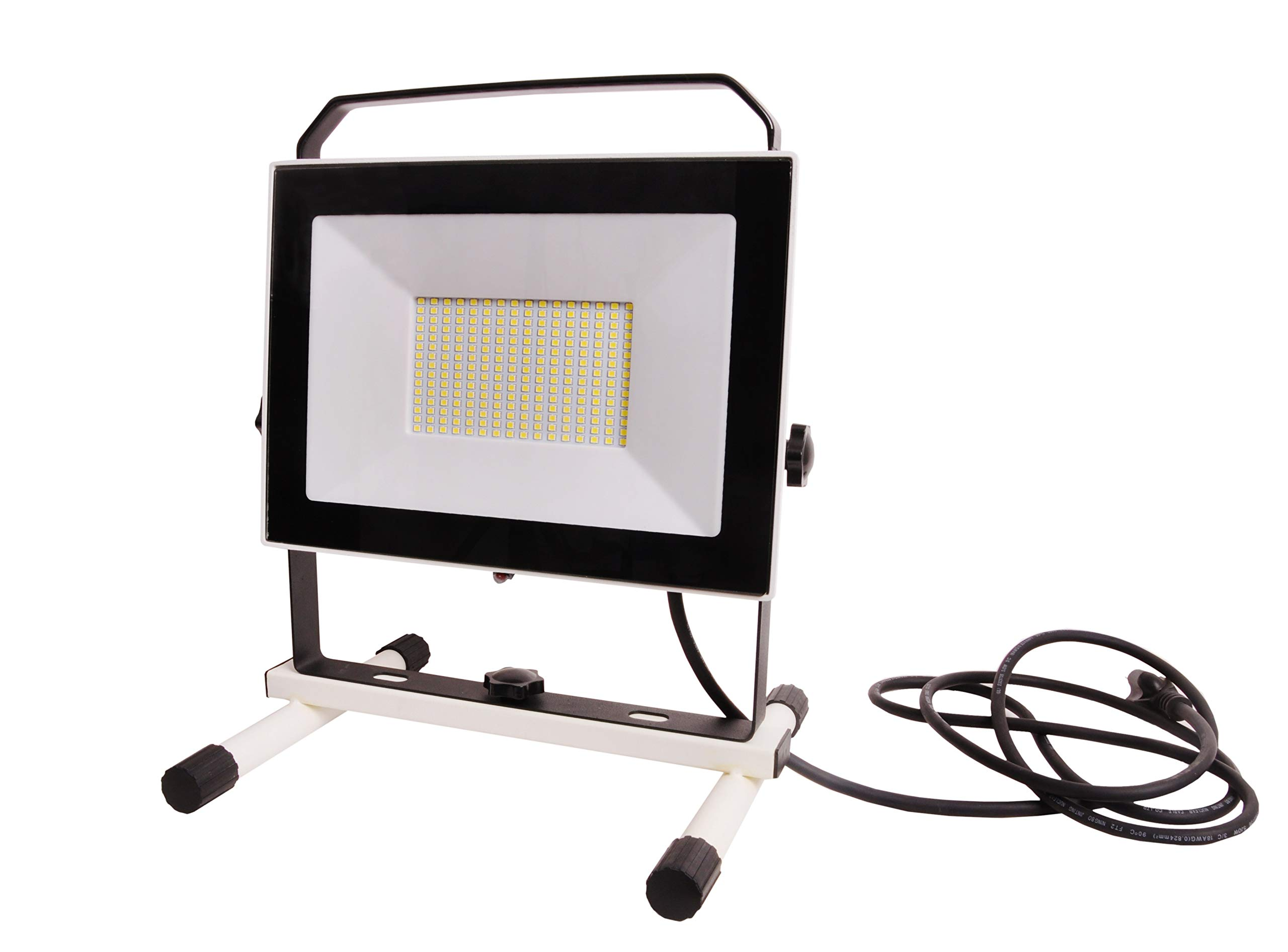 NextLED 10000LM 110 W LED Work Light (1000W Equivalent). IP 65 Water Proof Flood Light, Stand Working Light for Workshop, Construction Site, 180/360 Degree Adjustable Lighting Angles, ETL Certified