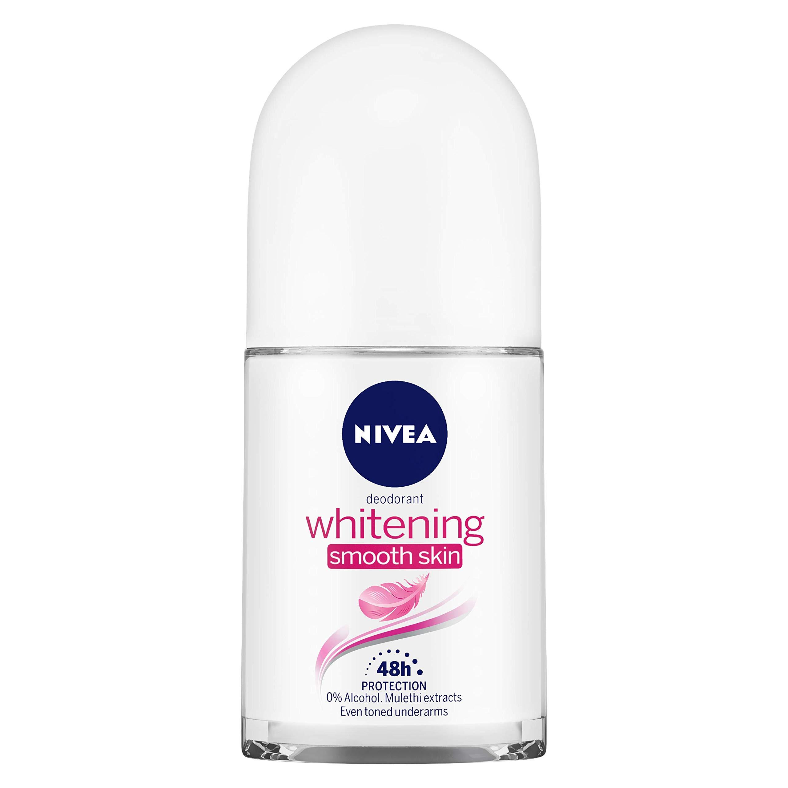 NIVEA Deodorant Roll-on, Whitening Smooth Skin, 50ml product image