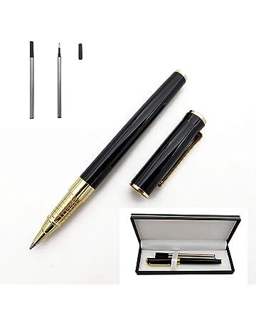 Penna a sfera in metallo con due ricariche da 0,5 mm in confezione regalo per uomo o donna 140MM Red con inchiostro nero Accod
