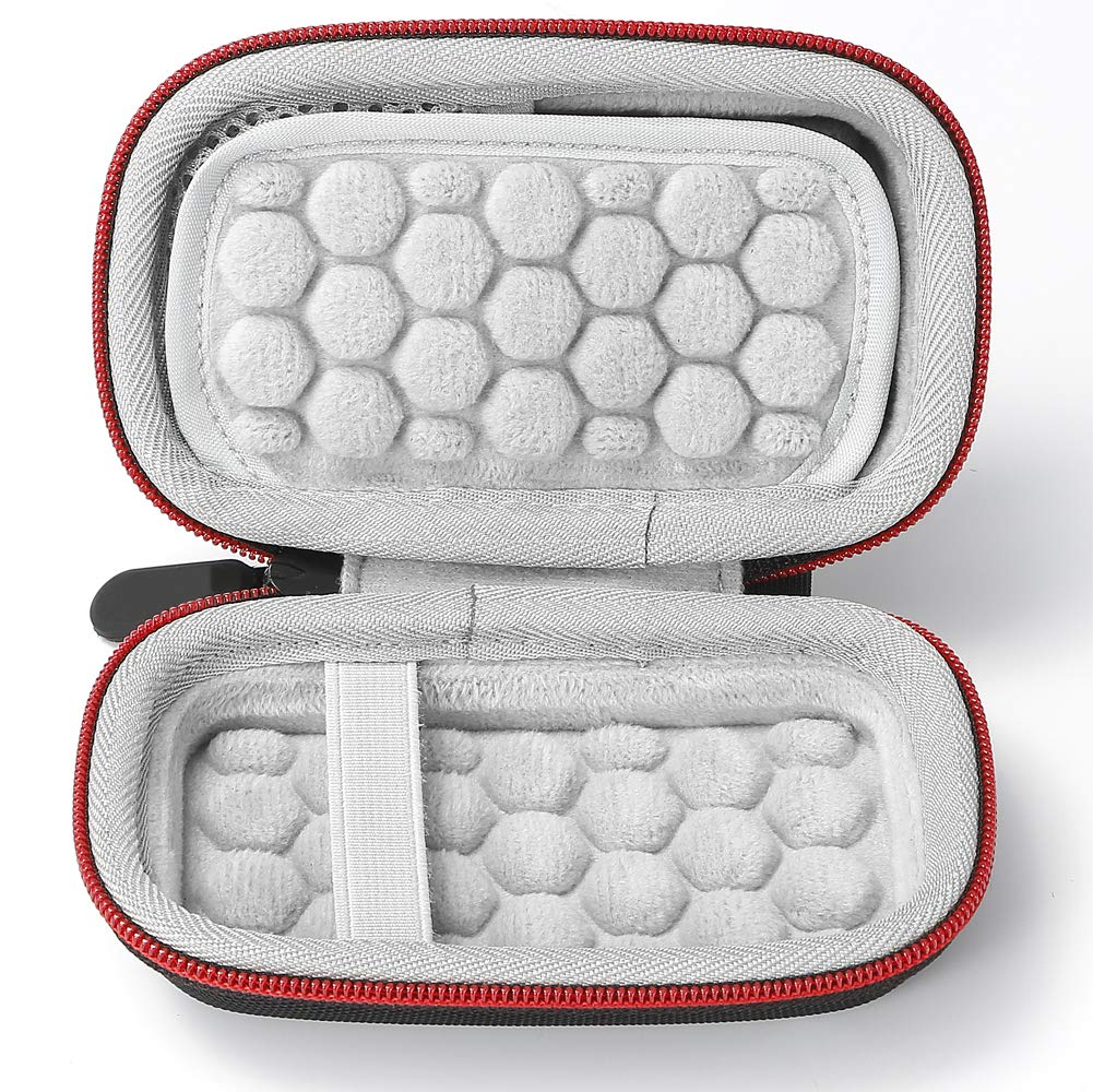 2 to Portable 500 Go Sac de Rangement Coque Rigide pour SSD SDSSDE60 Extreme Portable SanDisk 250 Go 1 to Noir