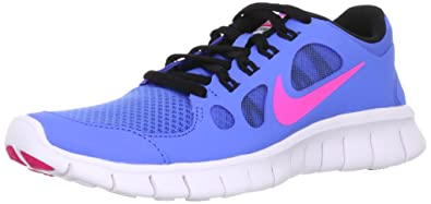 cheap for discount 00f33 087f5 Nike Girls Free 5.0 Running Shoe Distance Blue/Black/White/Pink Foil
