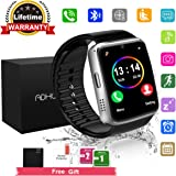 Bluetooth Smart Watch Touchscreen with Camera,Unlocked Watch Cell Phone with Sim Card Slot,Smart Wrist Watch,Waterproof Smartwatch Phone for Android Samsung IOS Iphone 7 6S Men Women Kids (black, M)