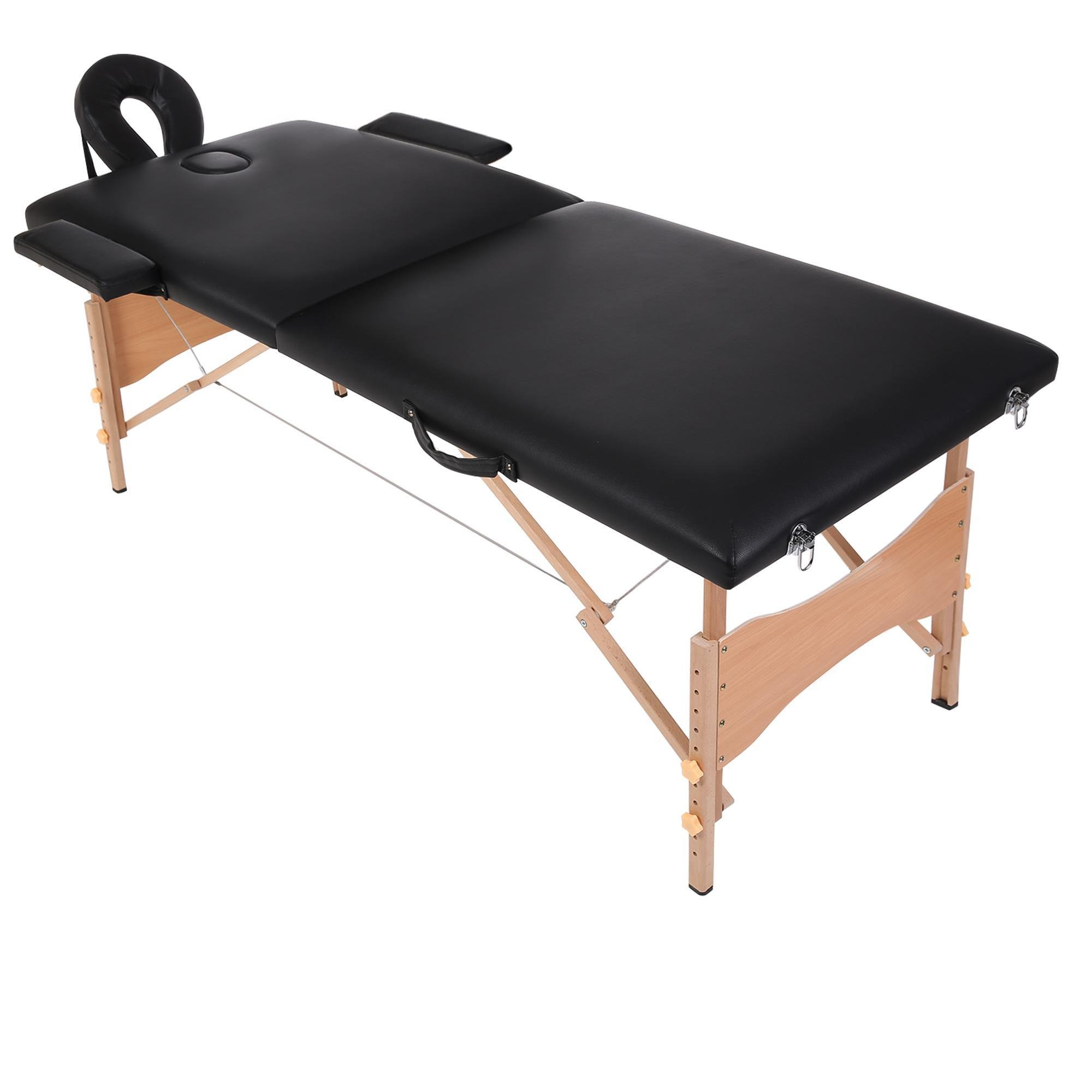 Garain Portable Synthetic Leather Massage Table Comfort Folding Pad Bed for Facial Spa Foot Massage
