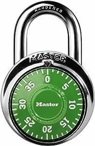 Master Lock 1505D Locker Lock Combination Padlock 1 Pack, Assorted Colors
