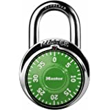 Master Lock 1505D Dial Combination Padlock, 1 Pack, Assorted Colors