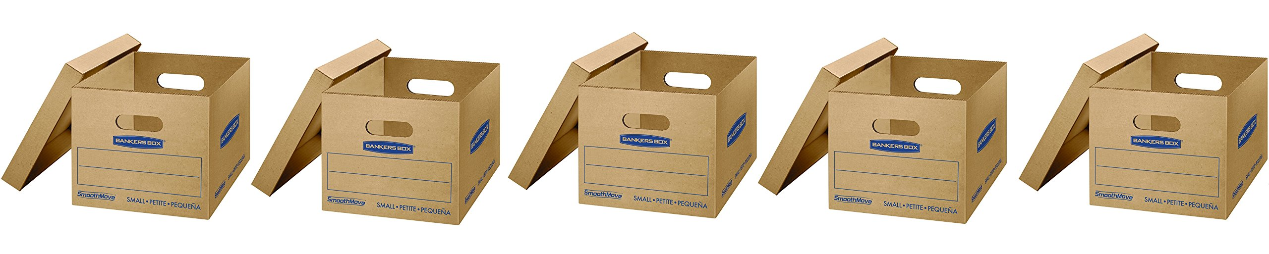 Bankers Box SmoothMove Classic Moving Boxes, Small, 15 x 12 x 10, 10 pk (7714901) (50 Pack)