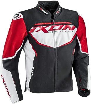 Giubbino tela hombre Ixon Sprinter impermeable nero-bianco-rosso Talla XXL: Amazon.es: Coche y moto