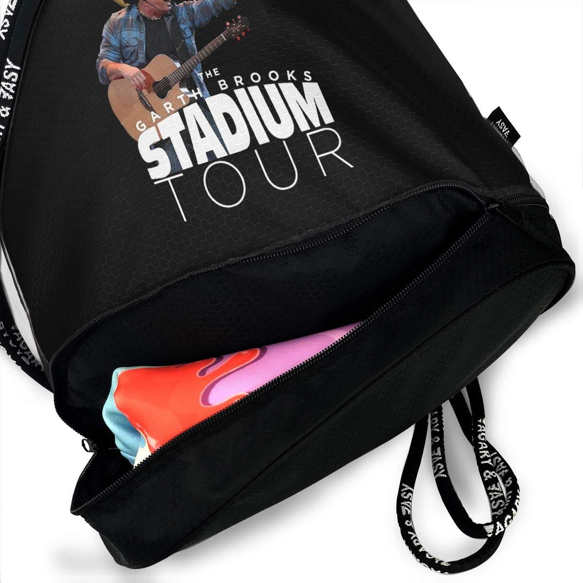 Shoulder Bag Pumping Rope Backpack Arth Brooks Printed Bundle Mouth Single Pocket