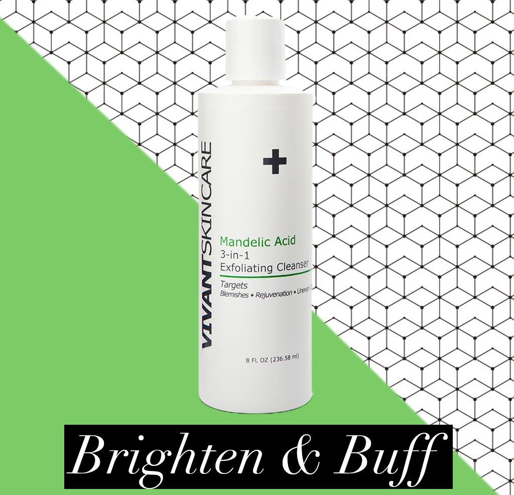Vivant Skin Care Mandelic Acid 3-in-1 Exfoliating Cleanser, 8 Ounce