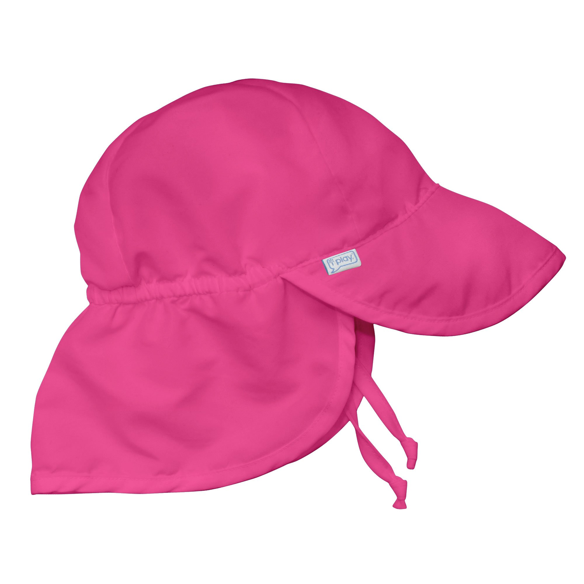 i play. Solid Flap Sun Protection Hat, Hot Pink, Toddler (2 4 Years) by i play.