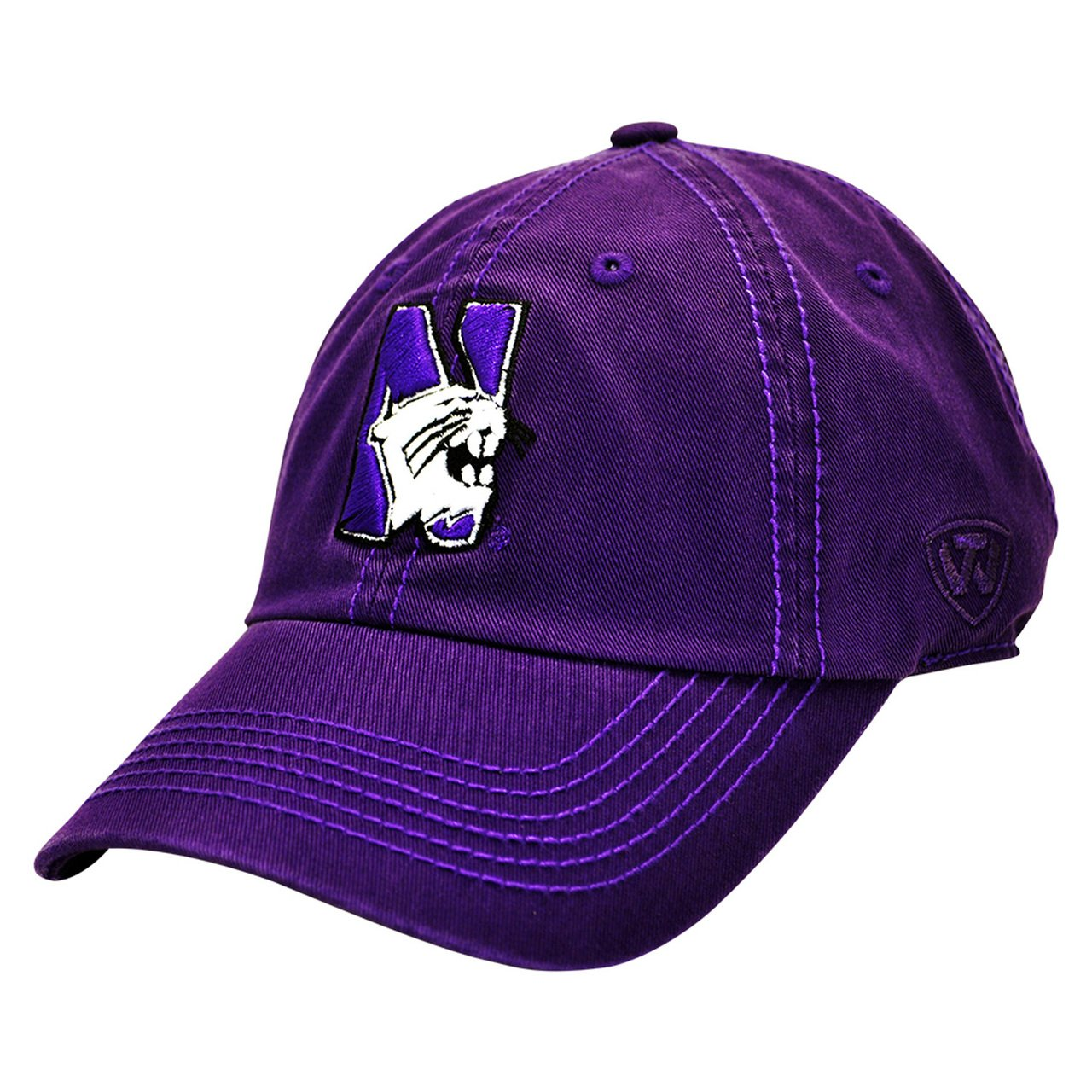 huge discount cd897 2a9c6 Amazon.com   Northwestern Wildcats Adjustable Crew Hat   Sports Fan  Baseball Caps   Sports   Outdoors