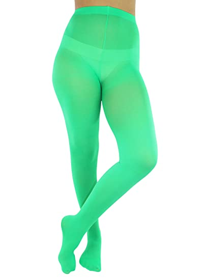 df03b9584ac Green Opaque Stretchy Leotard Tights at Amazon Women s Clothing store
