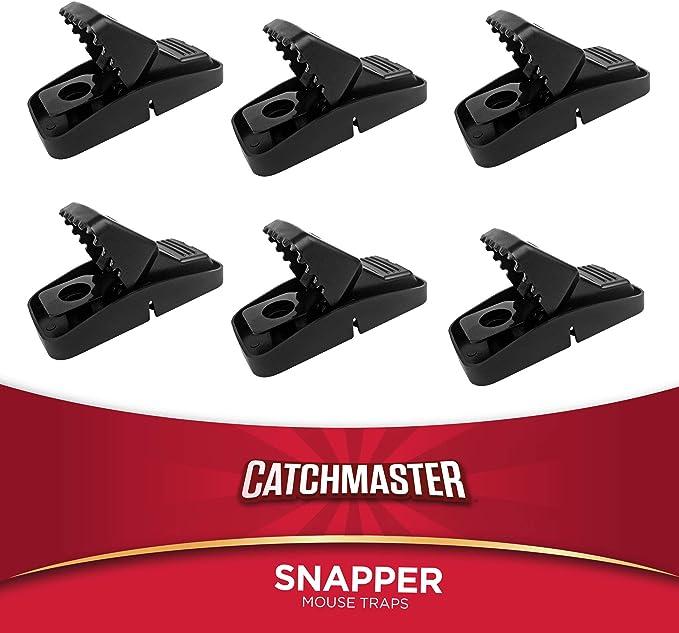 F/ür drinnen und drau/ßen wiederverwendbare Schnappfalle effektiv auch ohne Gift Catchmaster Mausefalle aus Kunststoff 2er Profi-Set aus den USA