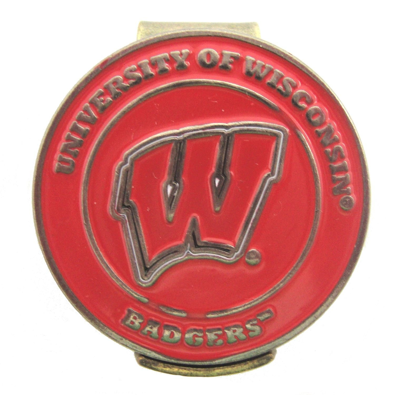 Wisconsin Badgersゴルフ帽子クリップと両面UW NCAAゴルフボールマーカー   B01DWFNY48